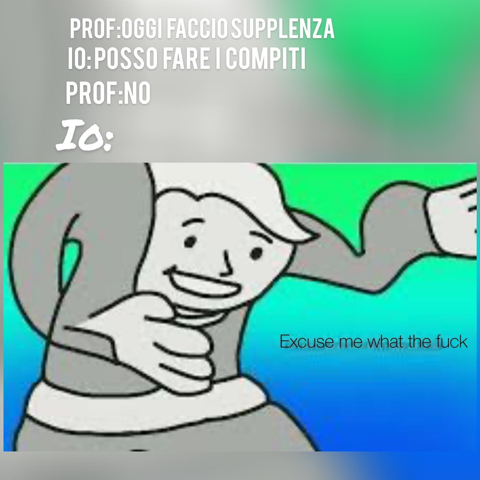 Mi è successo con la prof di diritto e economia durante fisica - meme