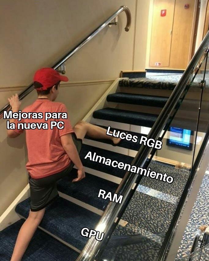 Luces en el teclado - meme