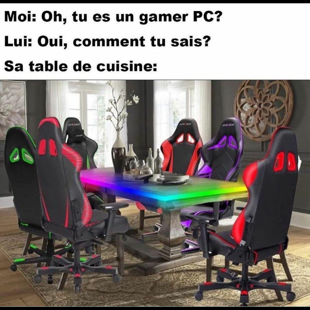 La table est une TBX 3450 Ti (RGB Édition) - meme
