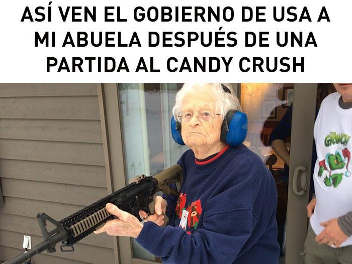 abuela armada - meme