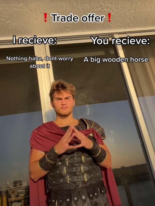 Trade offer: Trojan horse - meme