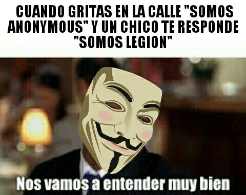 We are anonymous, we are legion - meme