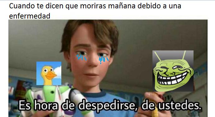 La wea triste weon :( - meme