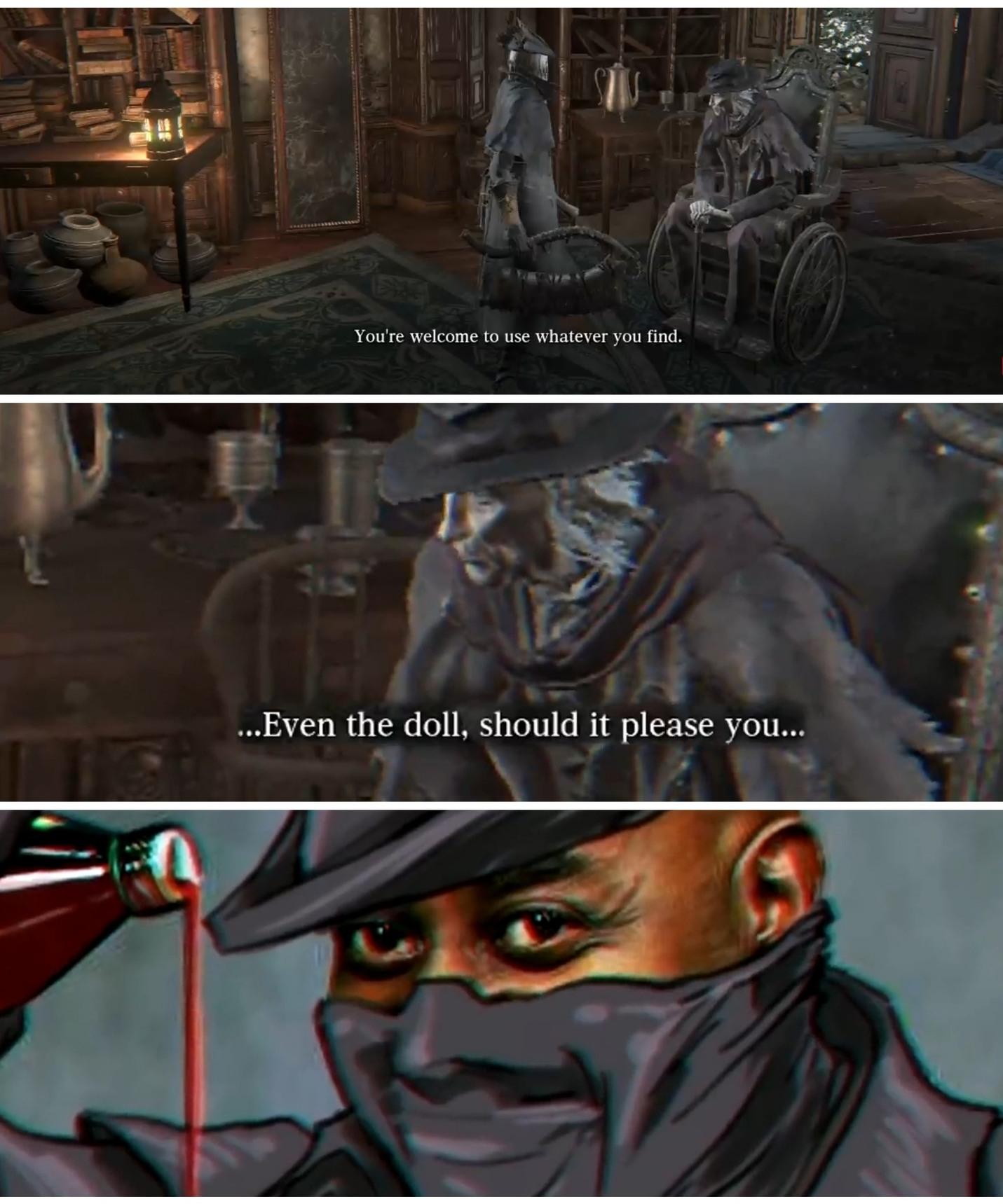 Just Bloodborne - meme