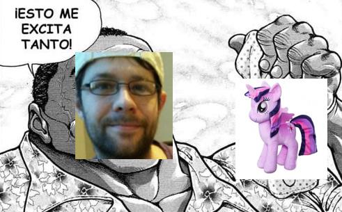 contexto: jin1515 es un furry que se enamoro y caso con un peluche de my little pony - meme
