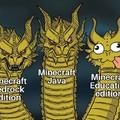 Las versiones de minecraft be like