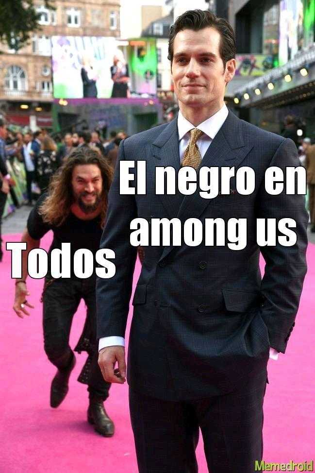 No me a tocado con un negro en among - meme