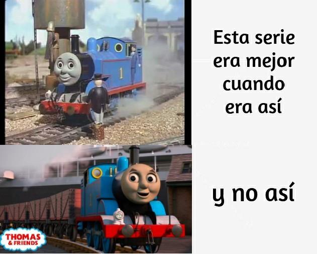 Antes eras chévere Thomas - meme