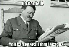 silly garfield - meme