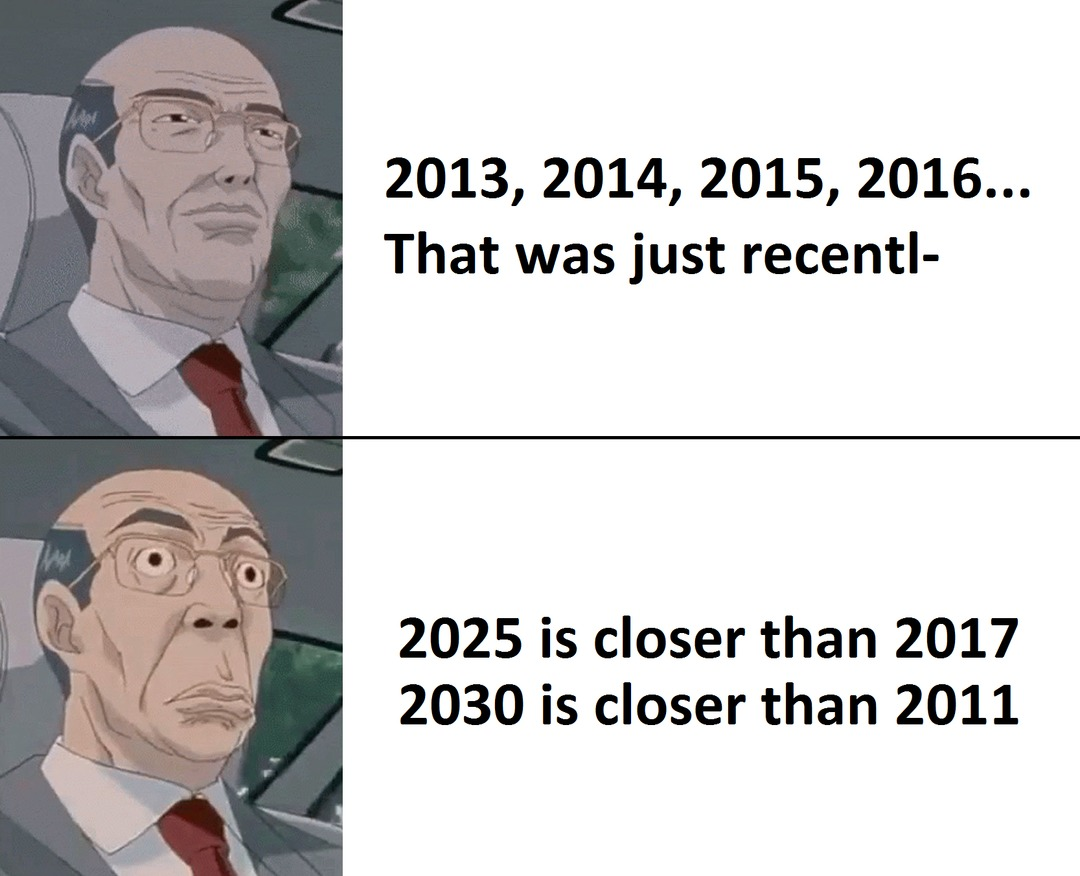 ,,The future'' is now, old man. - meme