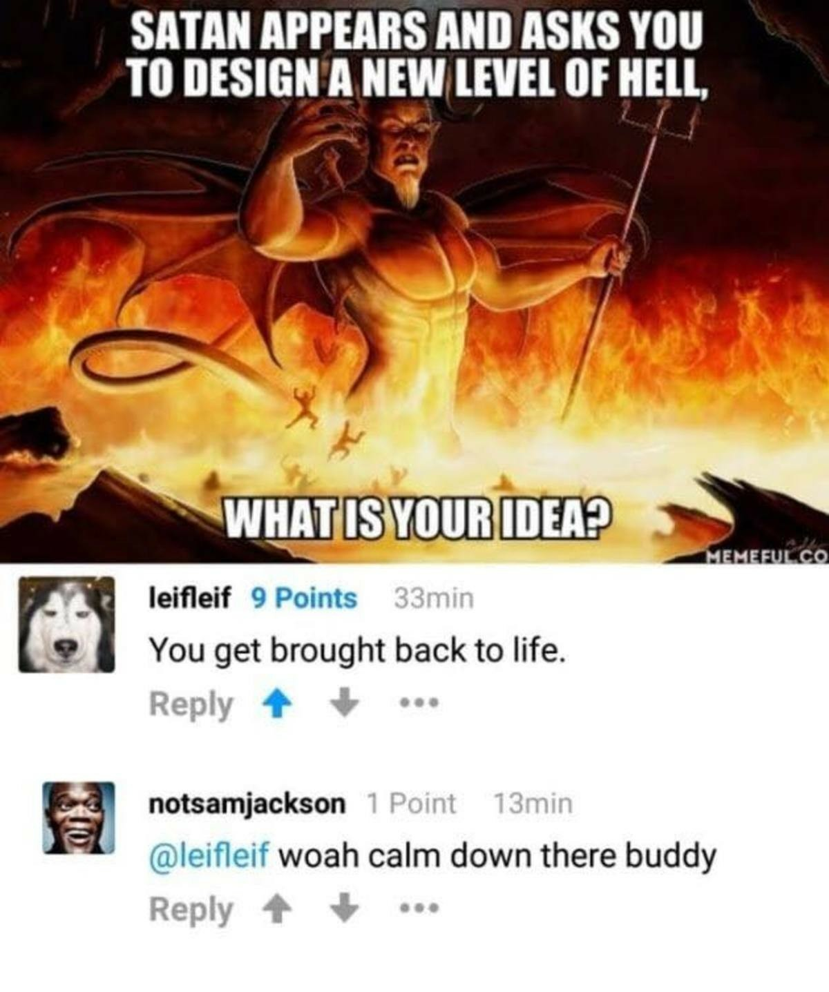 Thanks Satan - meme