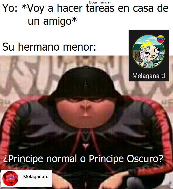 Príncipe o príncipe oscuro? :son: - meme