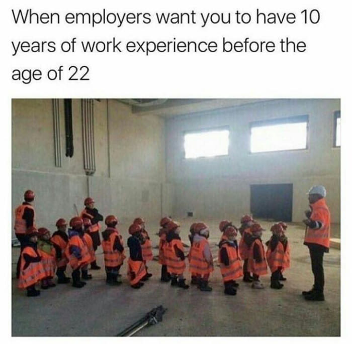 It's all about the experience - meme