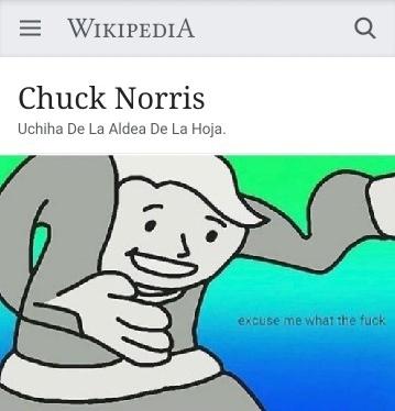 Chuck Norris tiene el sharingan - meme