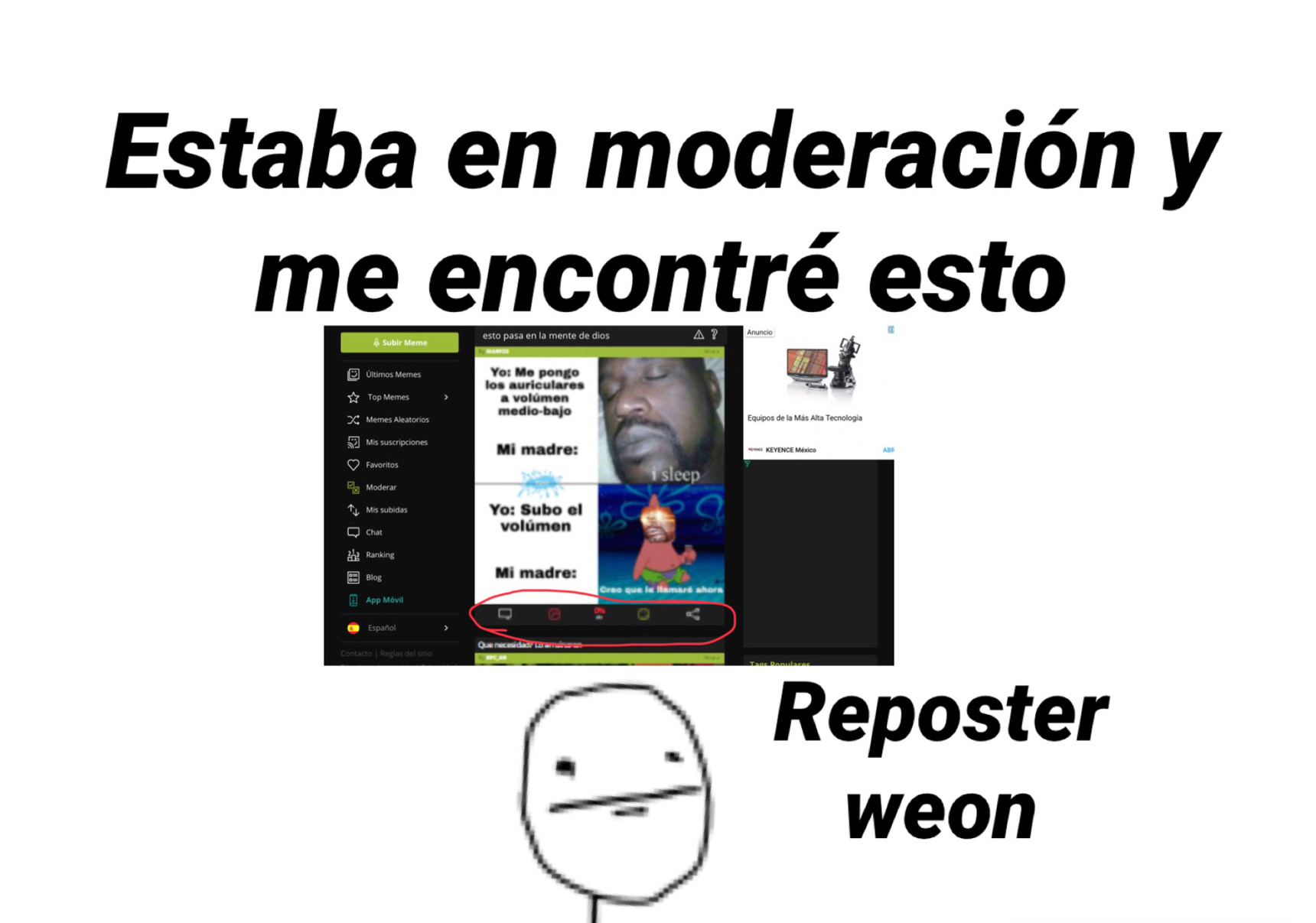 Reposter weon - meme