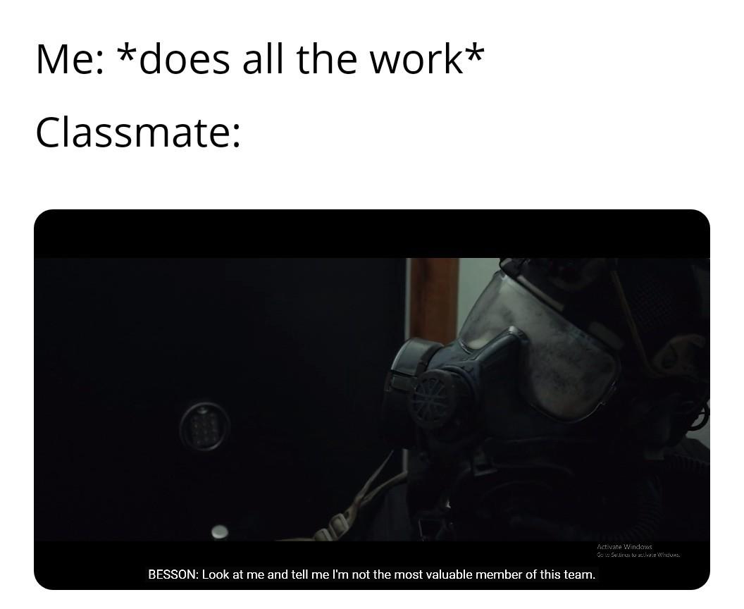 Project work bullshittery - meme