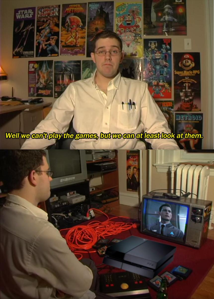 "Cinematic ""games"" - meme"