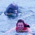 Doctors and apples