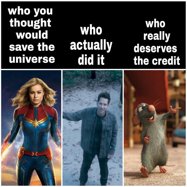 Who deserves the credit? - meme
