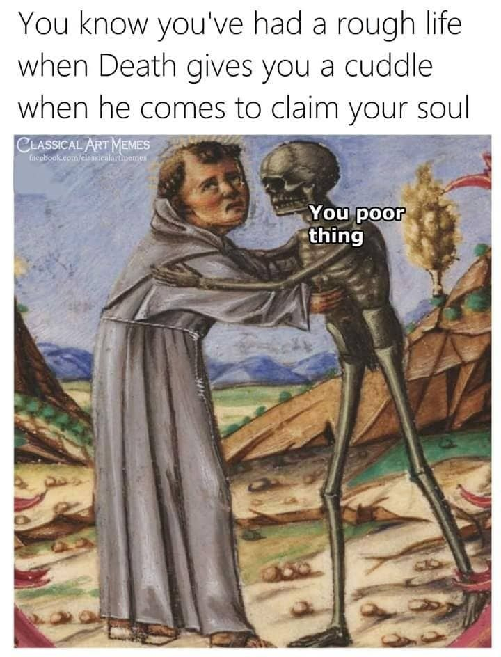 Death cuddle - meme