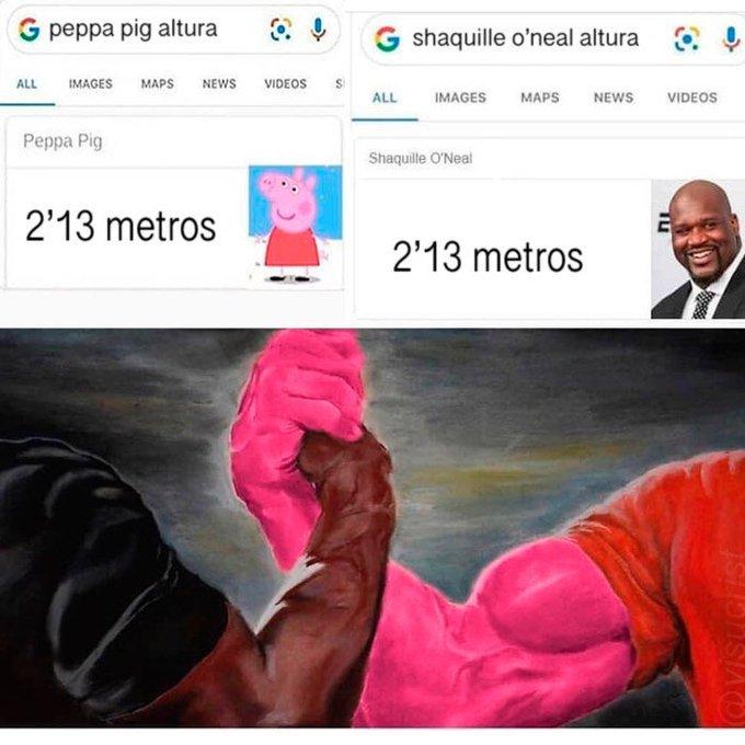 Peppa pig la cerda más alta del mundo - meme