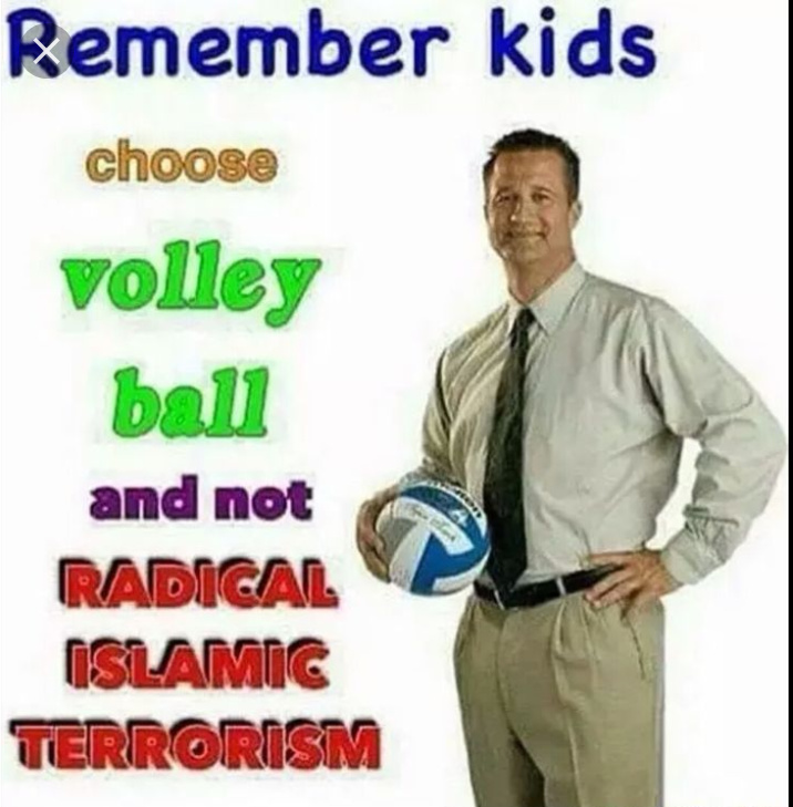 Remember kids: choose volley ball - meme