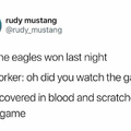 The eagles win against fourth comment