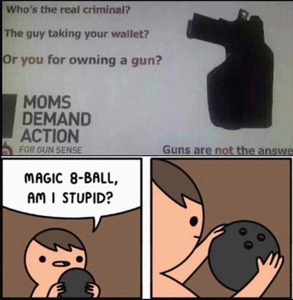 Take my wallet but let me keep my gun - meme