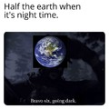 Going dark earth
