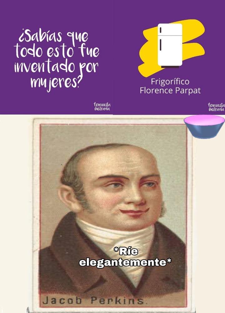 """El es el verdadero inventor del refrigerador, decía """"todo"""" porque eran varias imagenes - meme"""