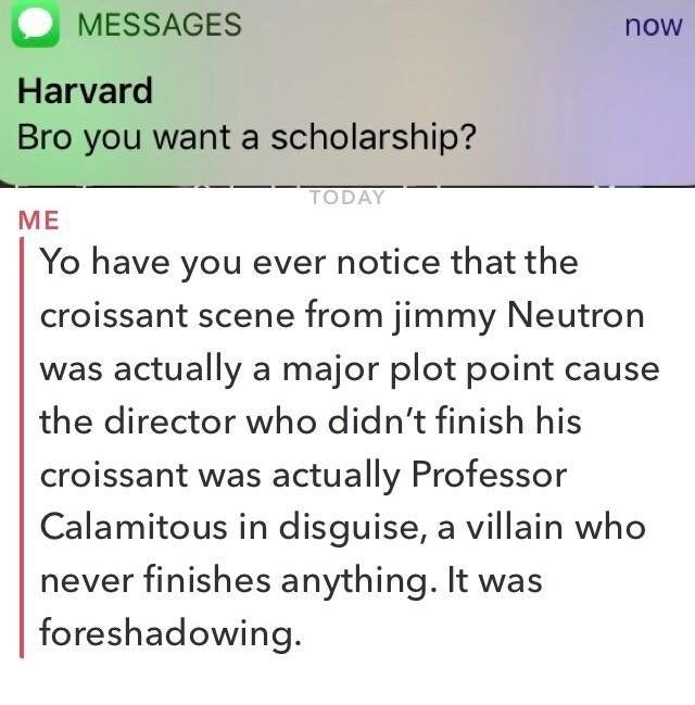 Harvard scholarship - meme