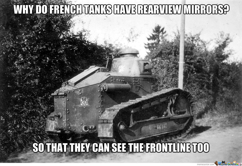 the french are wimps - meme