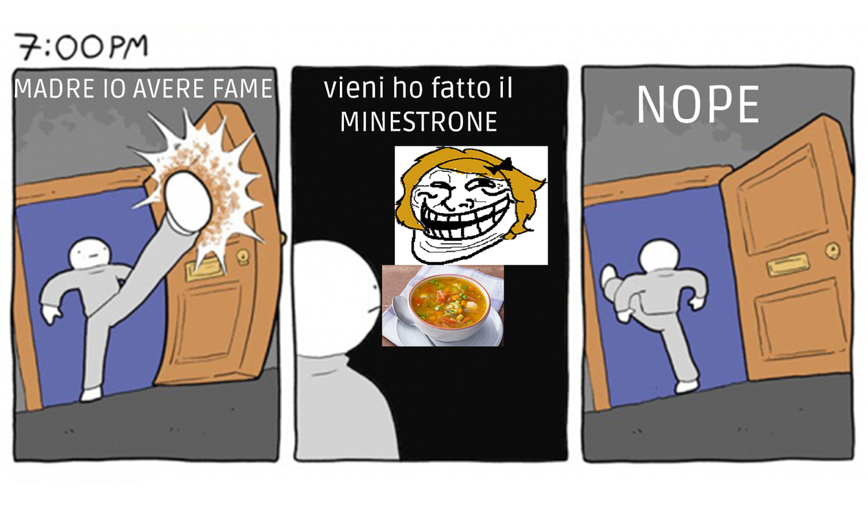 f*** minestrone - meme