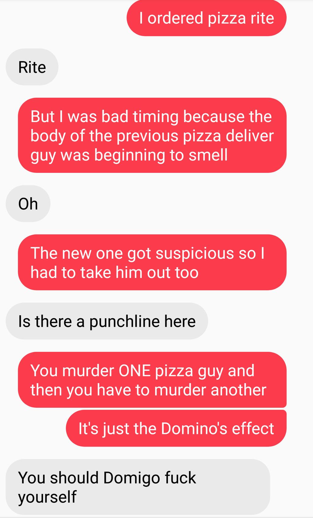 Conversation between me and Paul_Crasher - meme