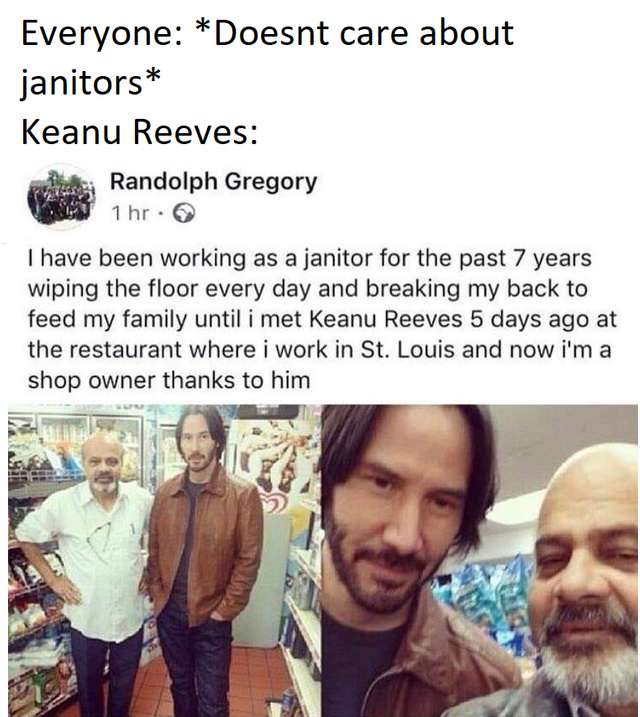 Another miracle of Keanu - meme