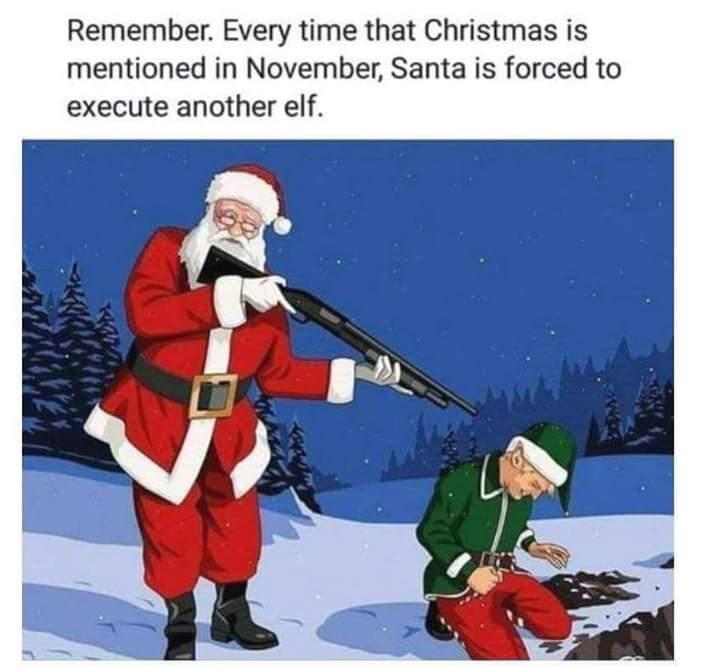 Silver Bells, Shot gun shells, it's war time in the city - meme