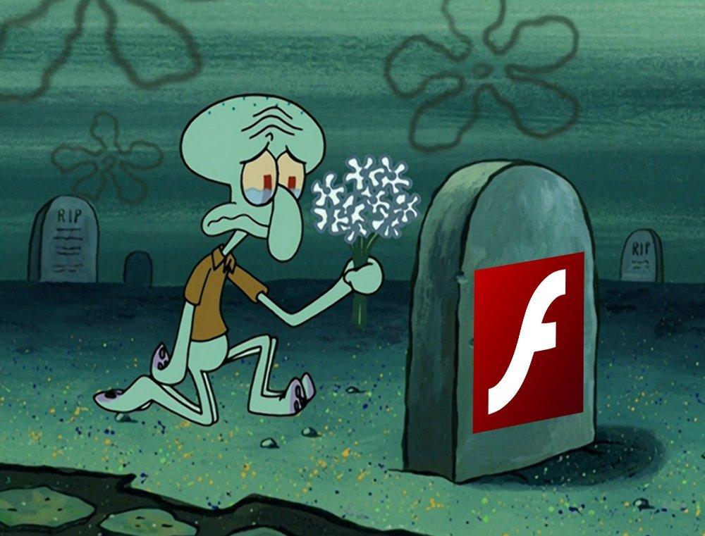 Rip Adobe - meme