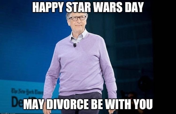 bill gates is getting a divorce ha - meme