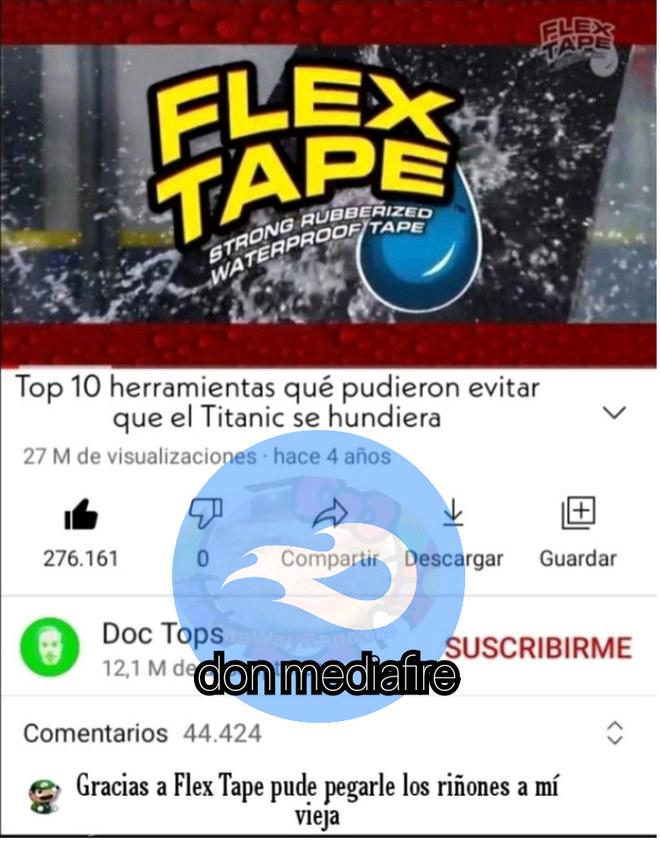XDDDD la Flex tape - meme