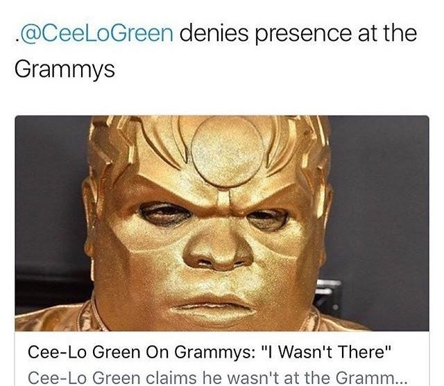 nice try cee-lo you aren't tricking us - meme