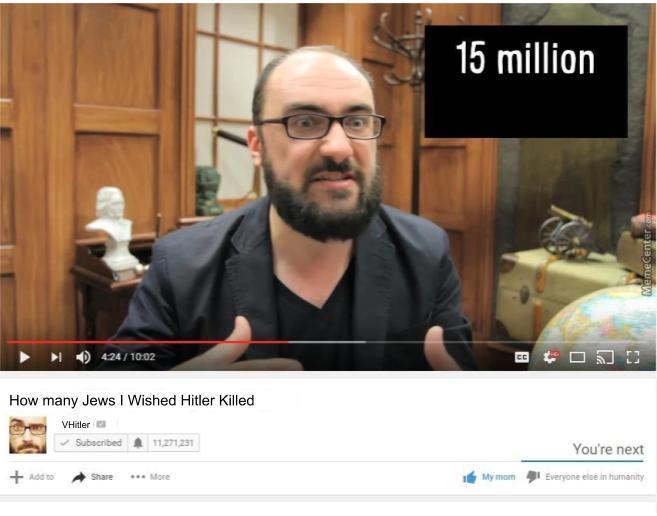 VSauce Like Hitler - meme