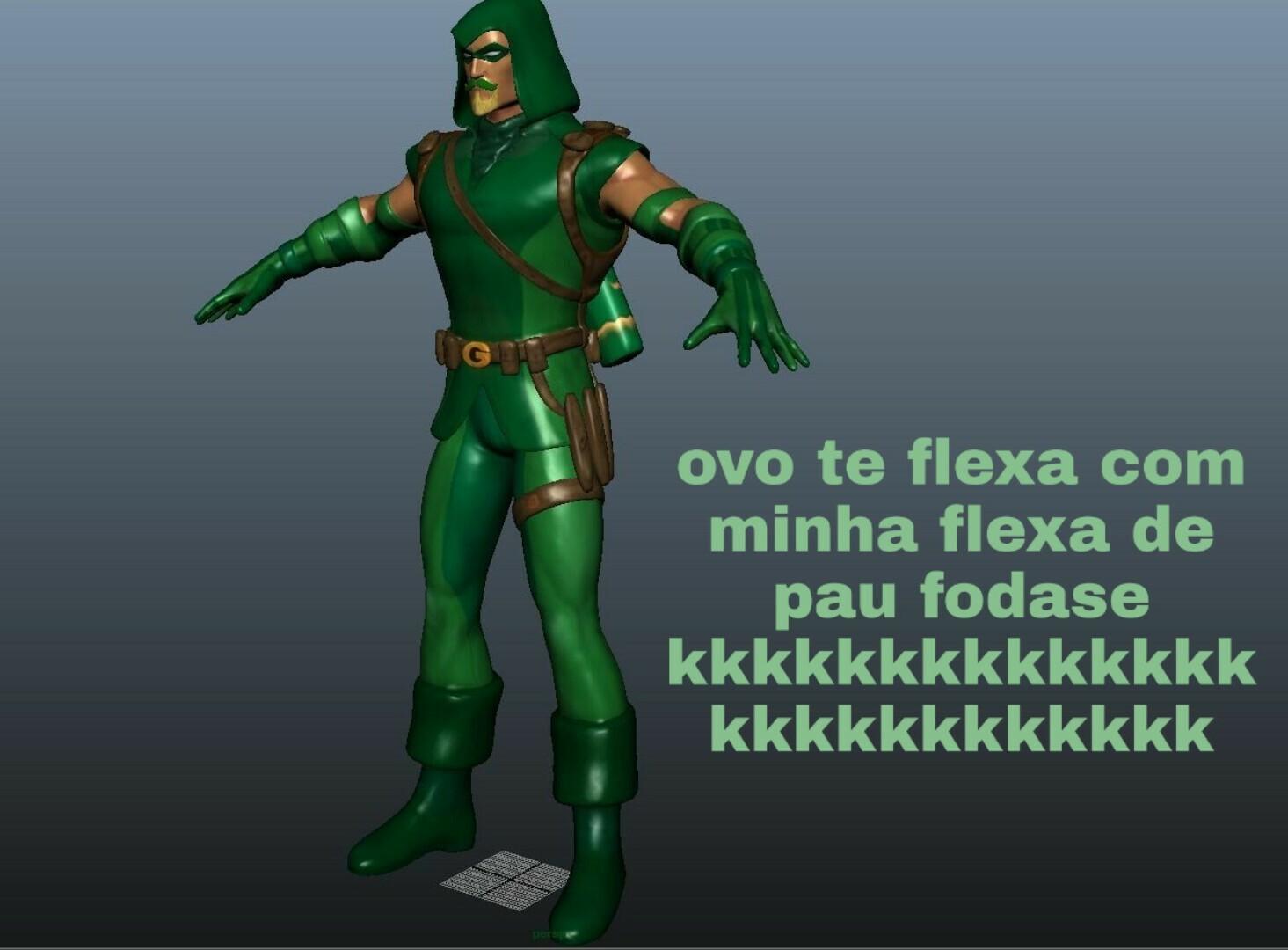 Arqueiro Verde gay fds - meme
