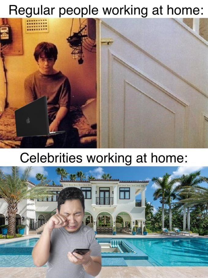 "I hate celebrities telling us ""stay at home"" :genius: - meme"