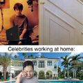 "I hate celebrities telling us ""stay at home"" :genius:"