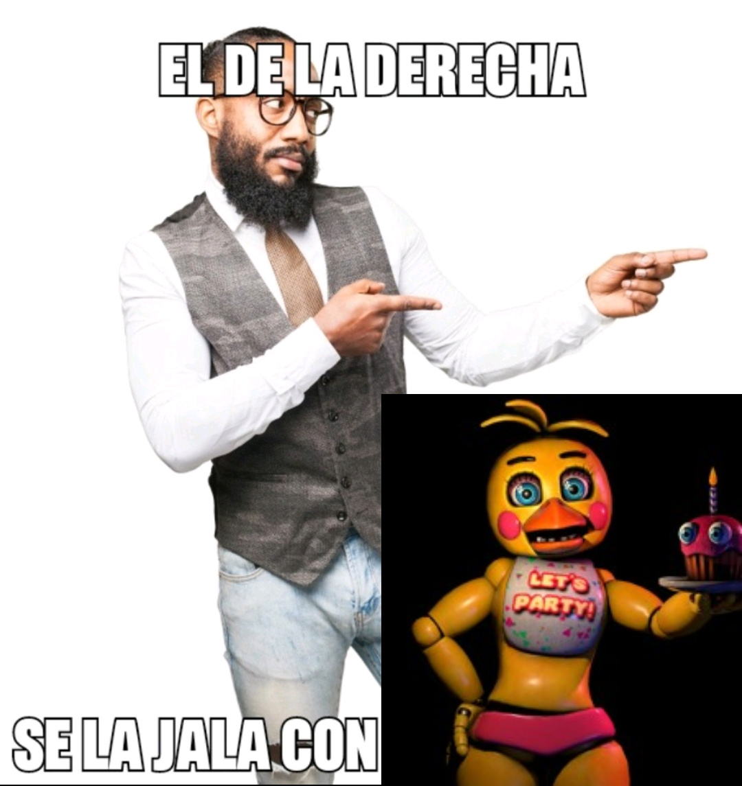 El de la derecha se la jala con Toy chica - meme