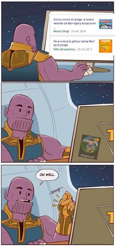 Fortnite conquistara el mundo - meme