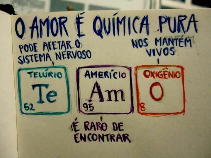 O amor é quimica pura - meme