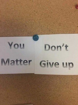 You don't matter give up - meme