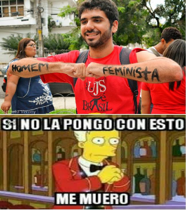 hombres feministas XDD - meme
