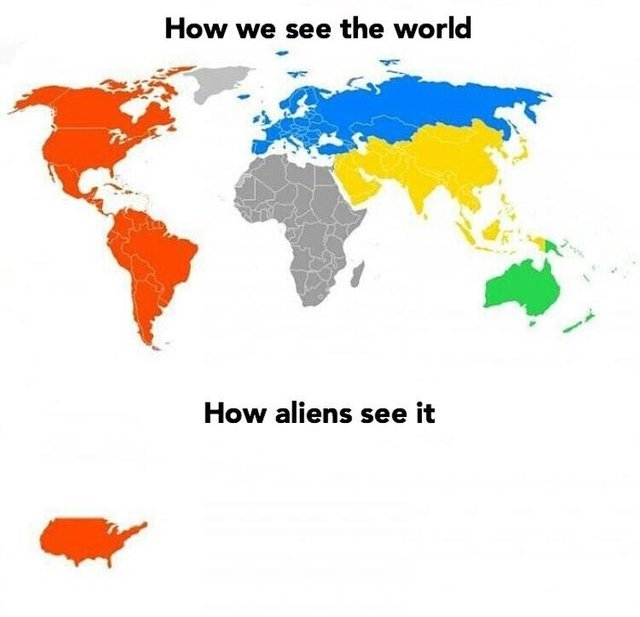 How we see the world vs how aliens see it - meme